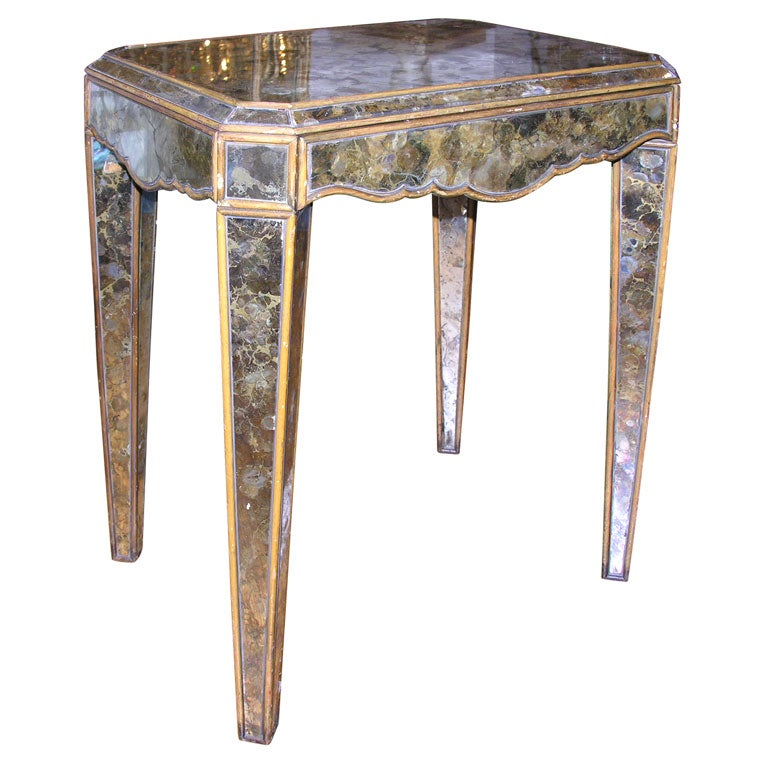 A french side table with square and tapered legs at stdibs