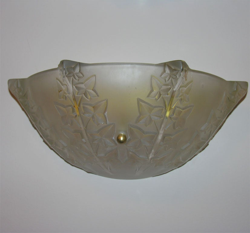 Pair of wall sconces by Rene Lalique in the