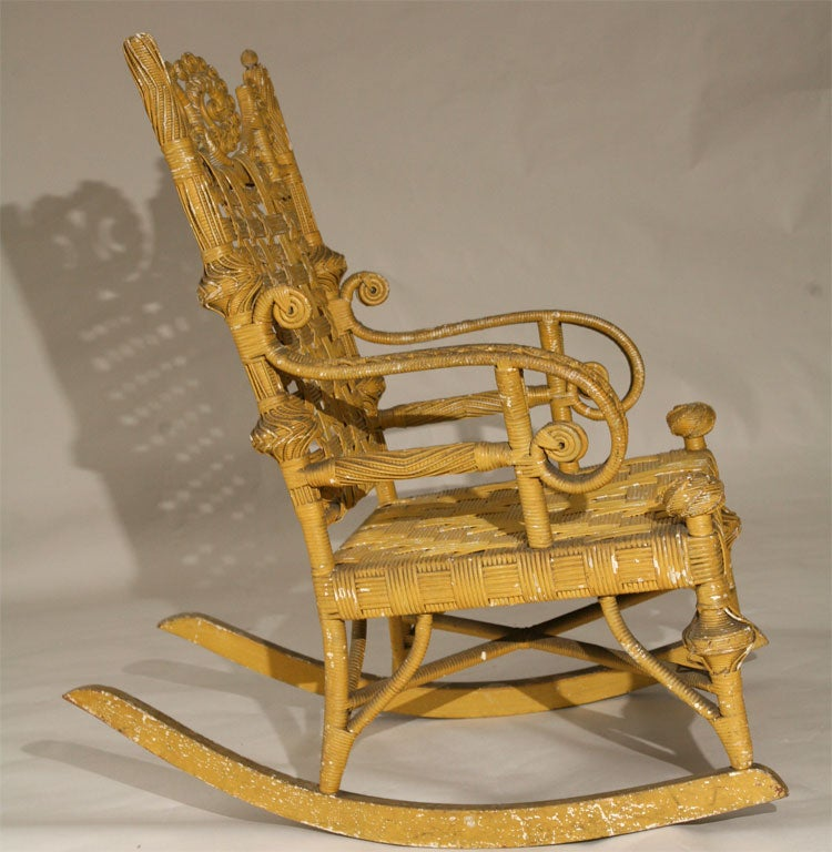 WICKER ROCKING CHAIR at 1stdibs
