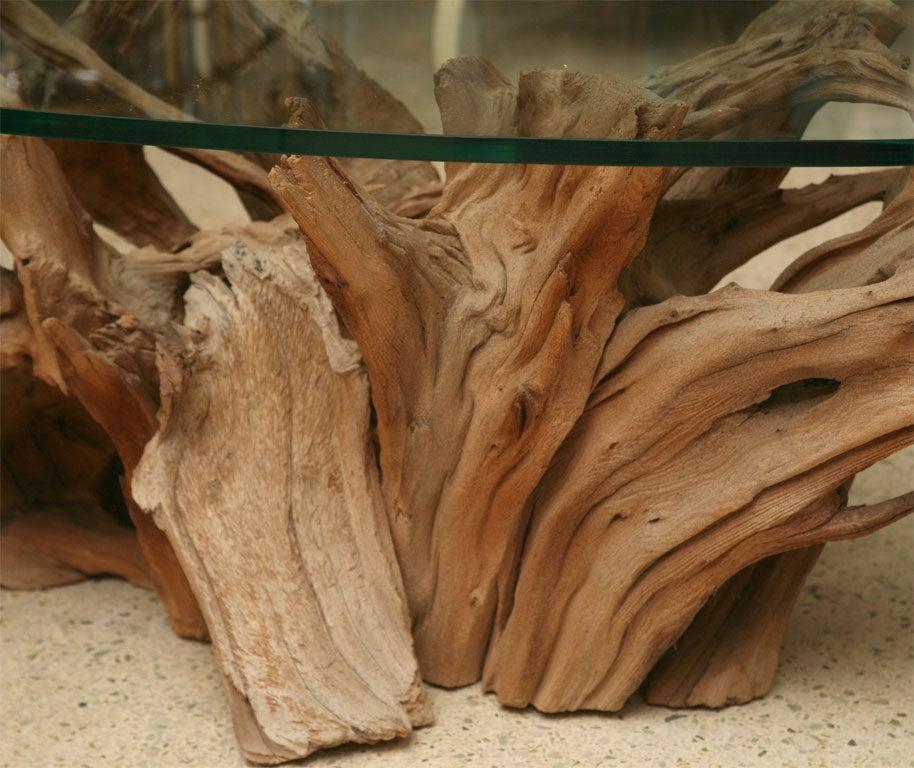 Weathered Vintage Driftwood Coffee Table At 1stdibs