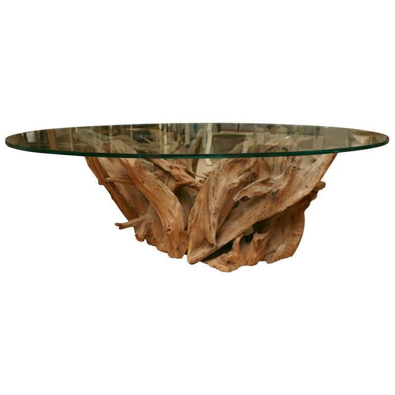 Weathered Vintage Driftwood Coffee Table At 1stdibs