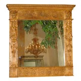 Early 18th Century Period Walnut Baroque Hand Carved Frame