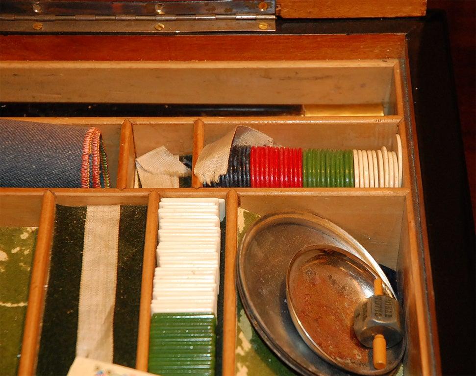 Italian Burl Game Box with original pieces 6