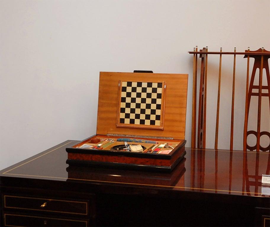 Italian Burl Game Box with original pieces 10