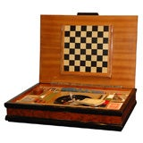 Italian Burl Game Box with original pieces