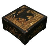 REDUCED 50%  ANTIQUE PAINTED  CHINESE  BOX