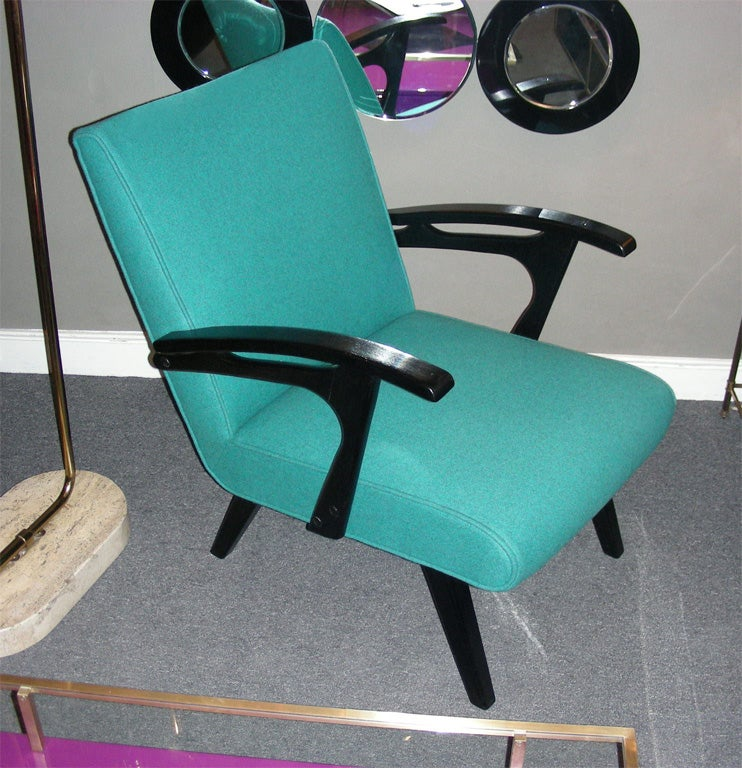 French Two 1960s Armchairs by Etienne Henri Martin For Sale