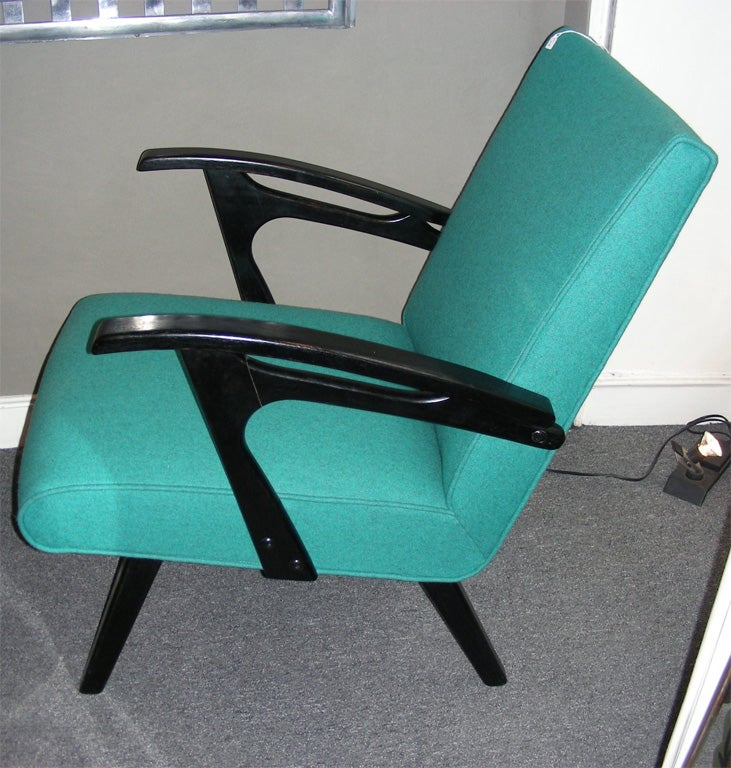 Wood Two 1960s Armchairs by Etienne Henri Martin For Sale