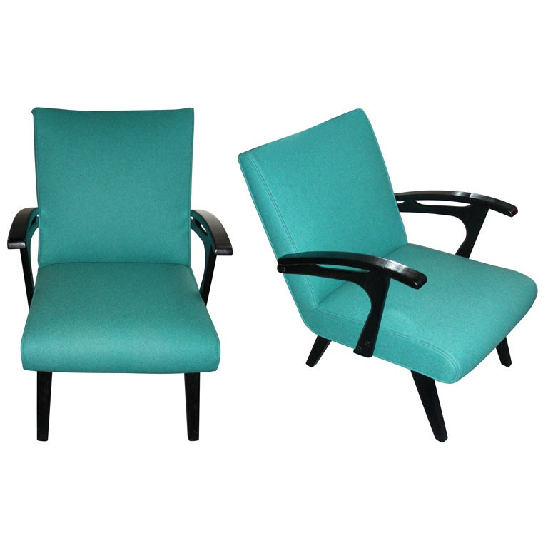 Two 1960s Armchairs by Etienne Henri Martin