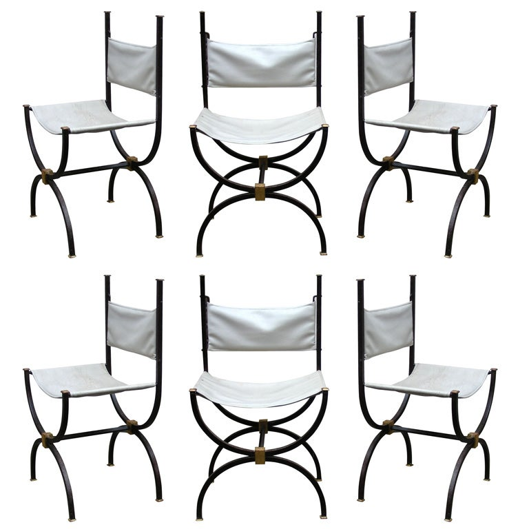 Six 1960s Chairs Stamped By R Thibier At 1stdibs