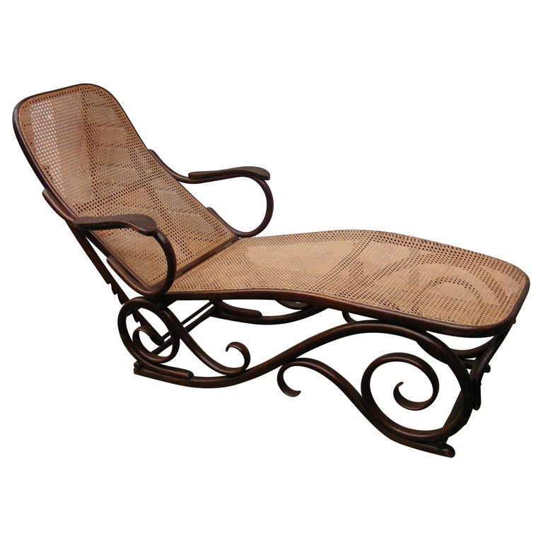 1880s chaise longue by thonet at 1stdibs for Chaise bentwood