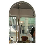 1970s Italian Murano Mirror with Arched Top