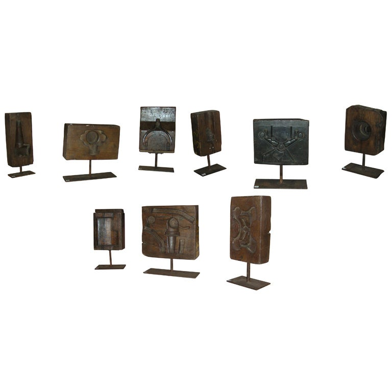 10 Industrial Wooden Molds At 1stdibs