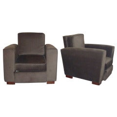 Two 1940s Armchairs by Jacques Adnet