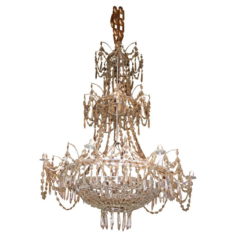 19th Century Crystal Chandelier At 1stdibs