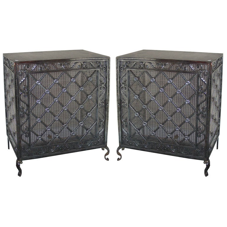 Two 1940s wrought iron radiator covers at 1stdibs - Cast iron radiator covers ...