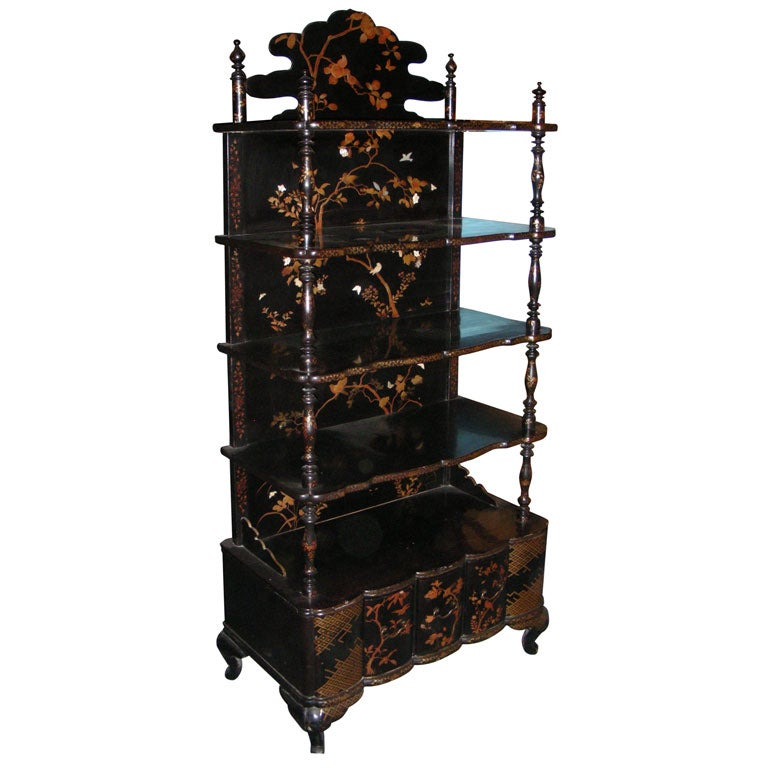 End of 19th Century Chinese Style Etagere :  interior design designer interior etagere