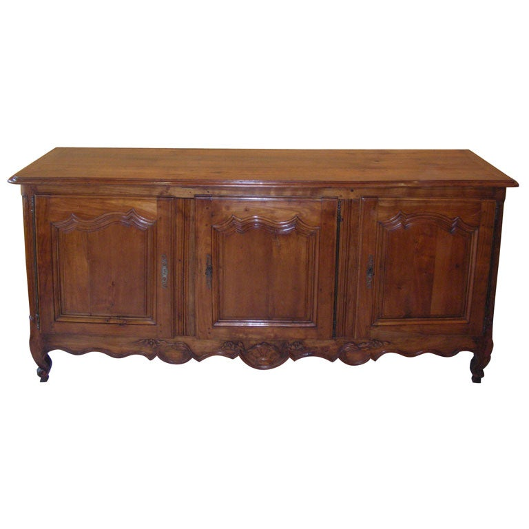 Mid th century louis xv sideboard in cherry wood at stdibs
