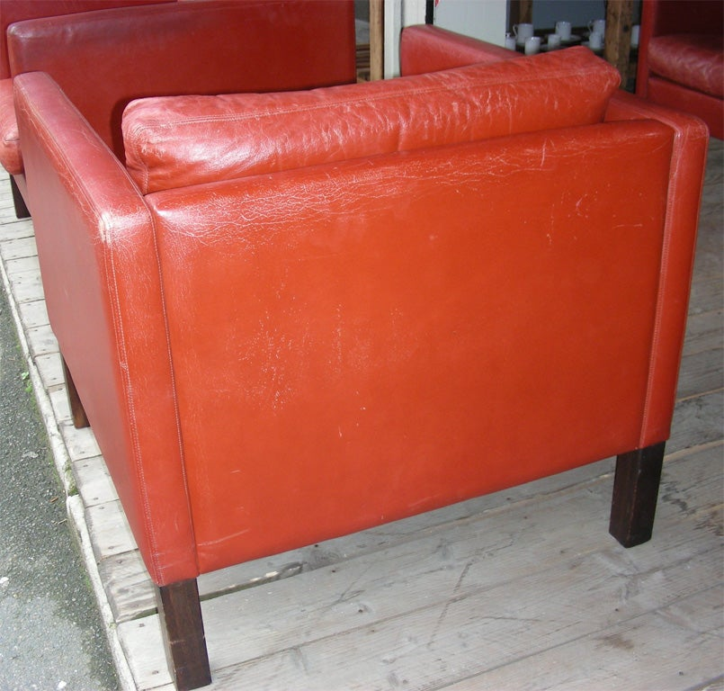 1950s red leather living room suite at 1stdibs for Leather living room suit