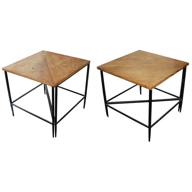 Four 1950s Triangular Coffee Tables By Mathieu Mat Got At 1stdibs