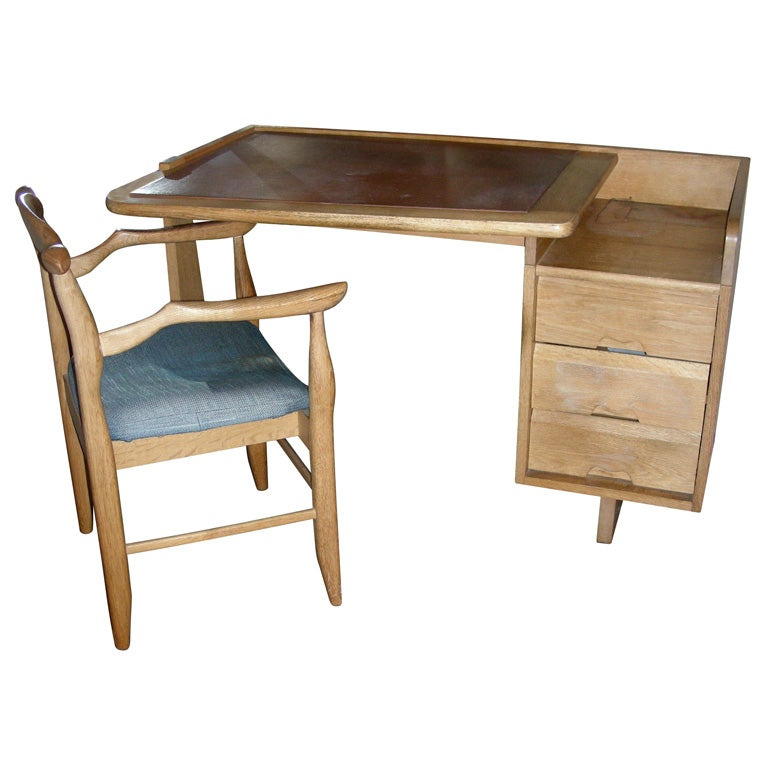 1950s Desk And Armchair By Guillerme Et Chambon At 1stdibs