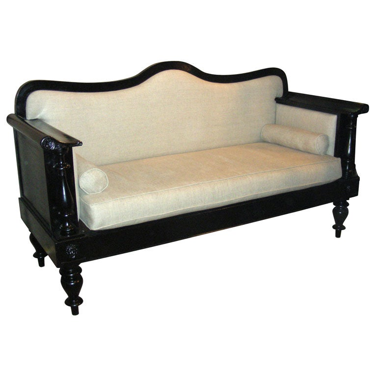 1900 Sofa in Black Wood
