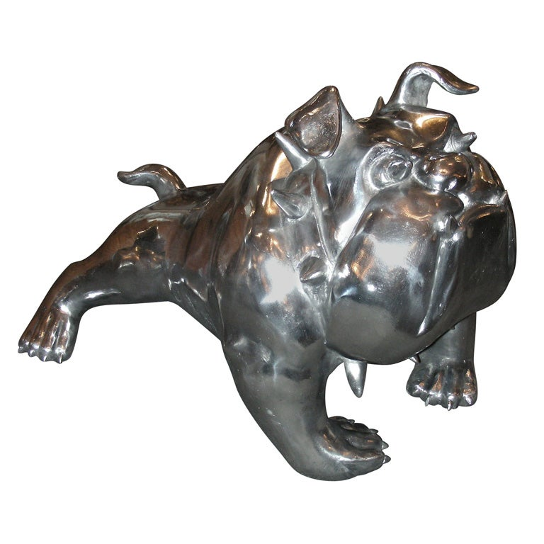 Contemporary Sculpture Of A Bull Dog By Christian Maas At