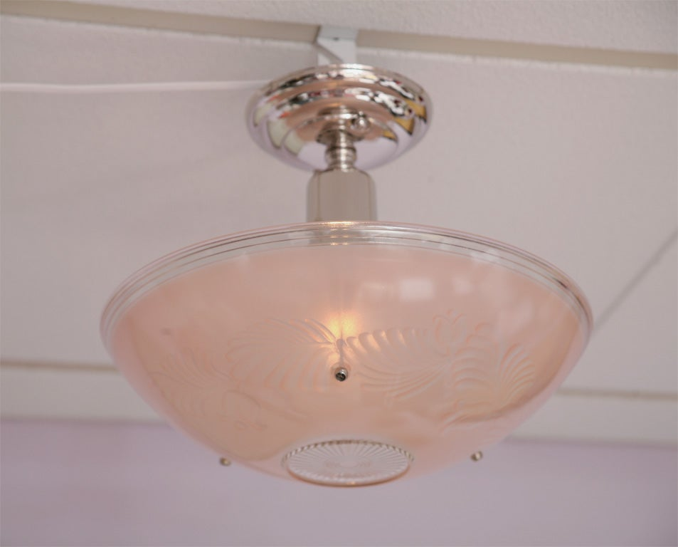 Chandelier 1940s Pink and Pink 2