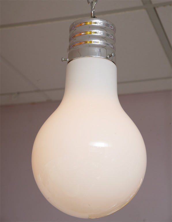 Mid-Century Modern Lighting Pendant Lightbulb Vintage Restored Rewired For Sale
