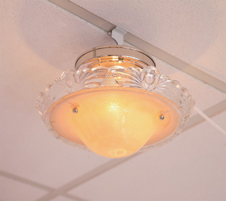 Ceiling Light, Pink,Deco, Original, Rewired 4