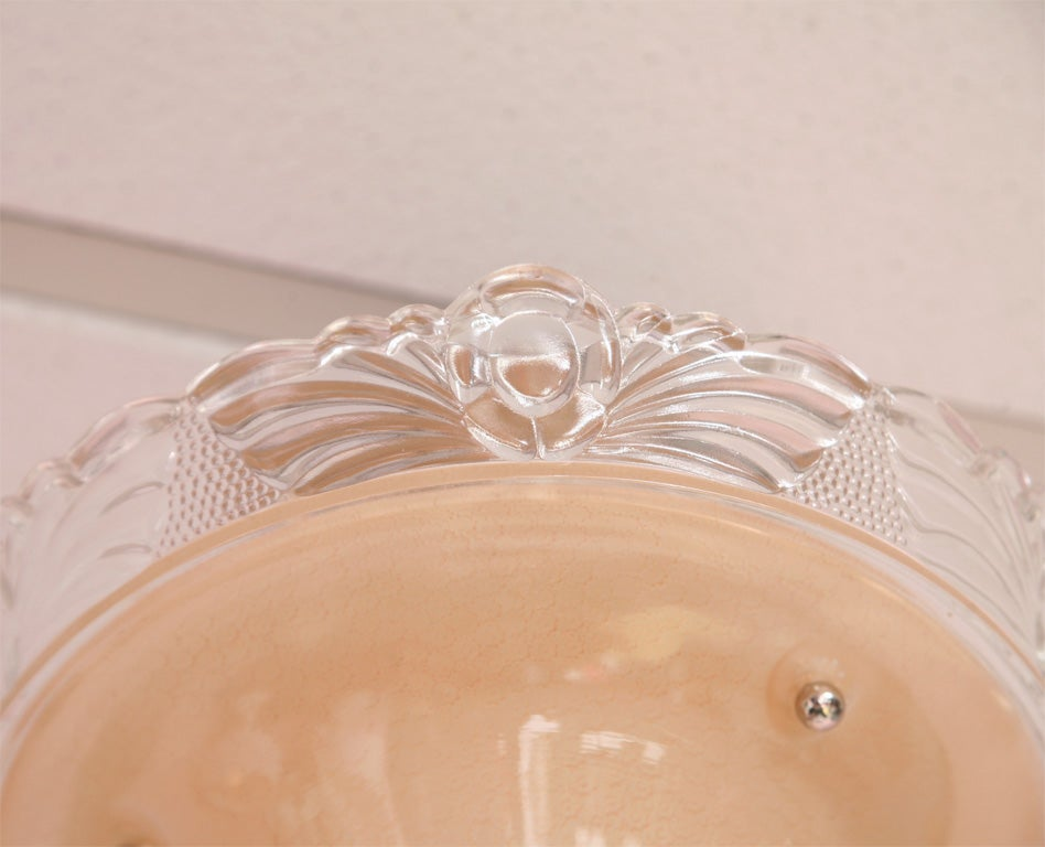 Ceiling Light, Pink,Deco, Original, Rewired 5