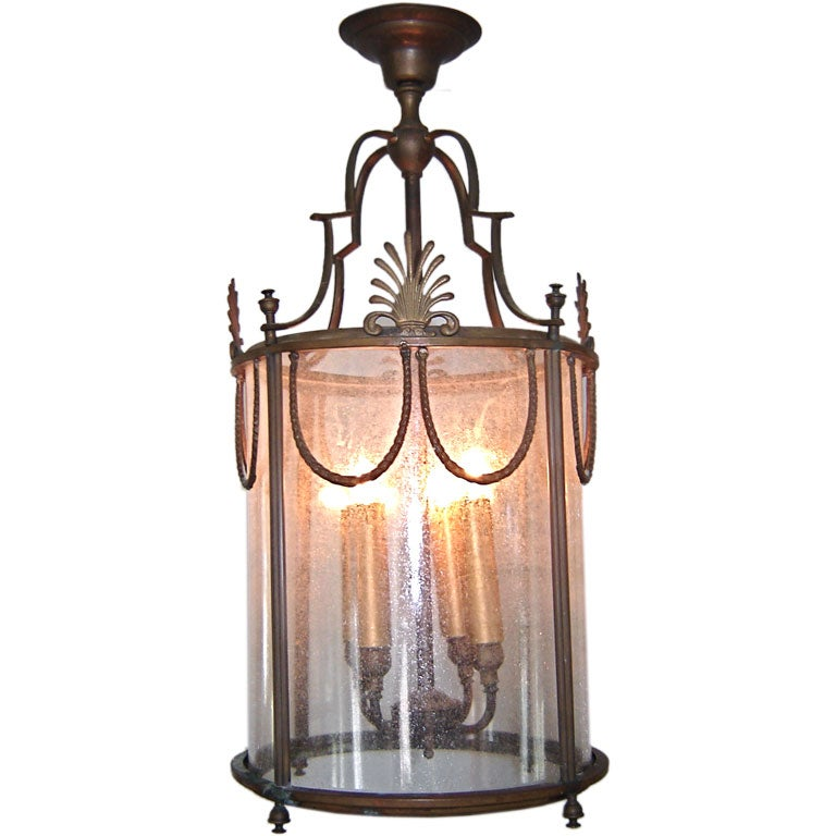 Bronze Neo Classic Lantern At 1stdibs