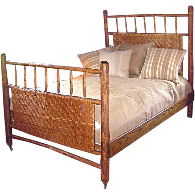 Old Hickory Double Bed at 1stdibs