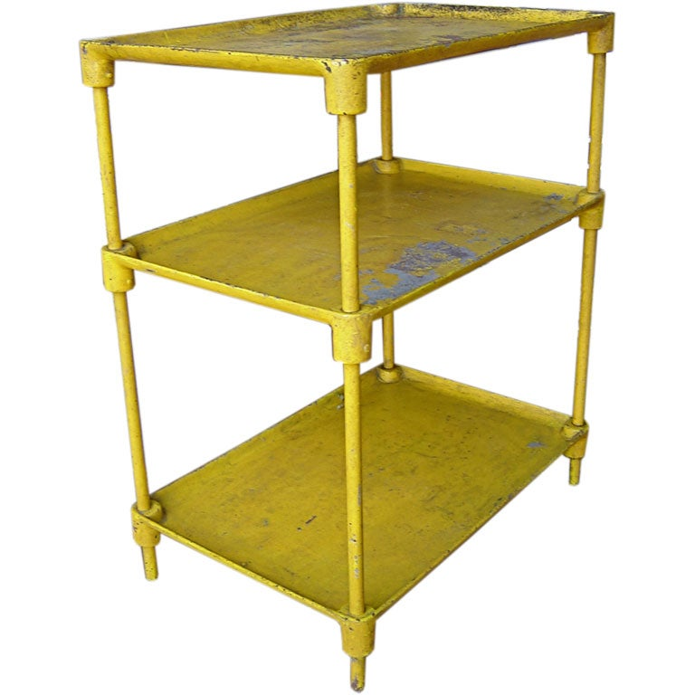 Steel etagere with original yellow paint at 1stdibs - Etagere cases carrees ...