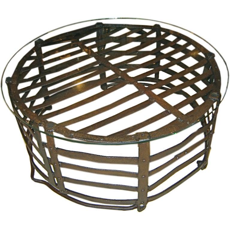 Industrial Basket Coffee Table At 1stdibs