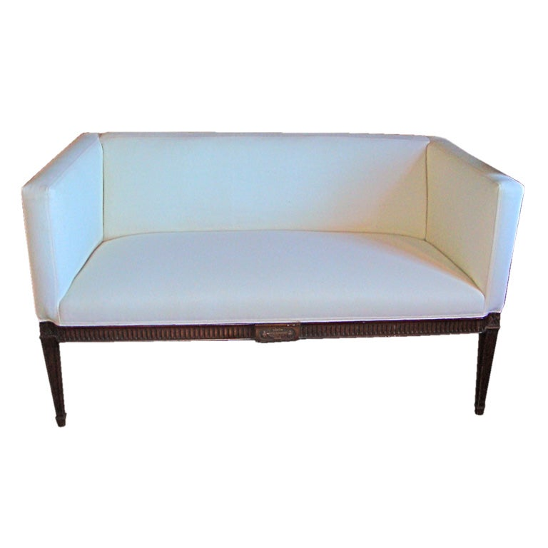 Small upholstered settee at 1stdibs for Small settee