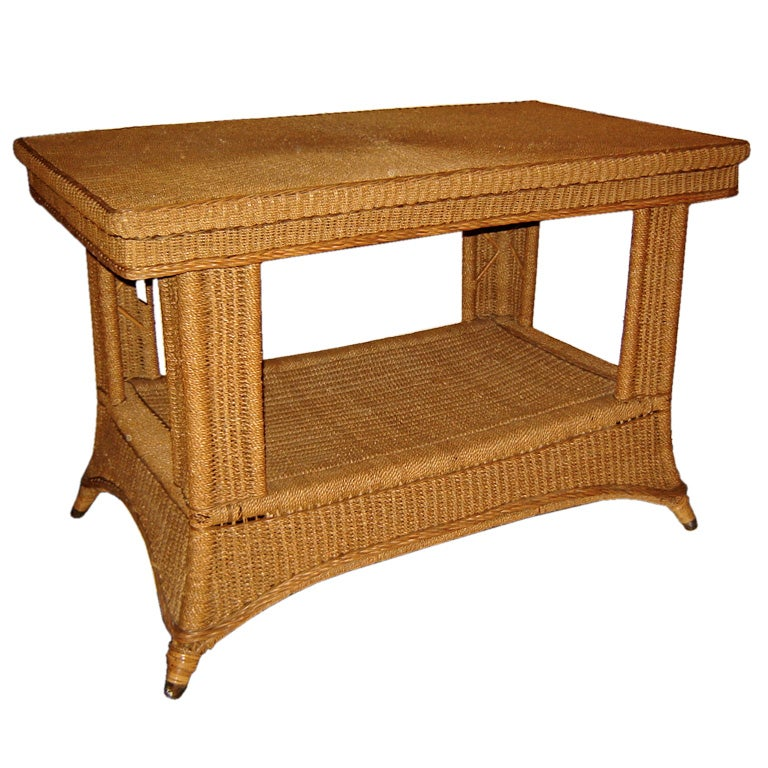 Seagrass Library Table At 1stdibs