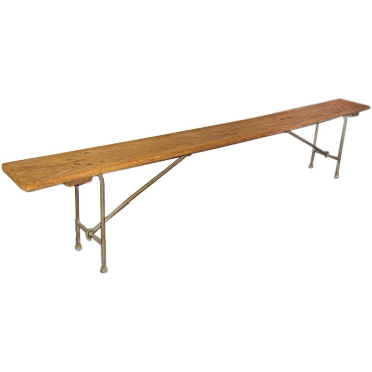Long Folding Dugout Bench At 1stdibs