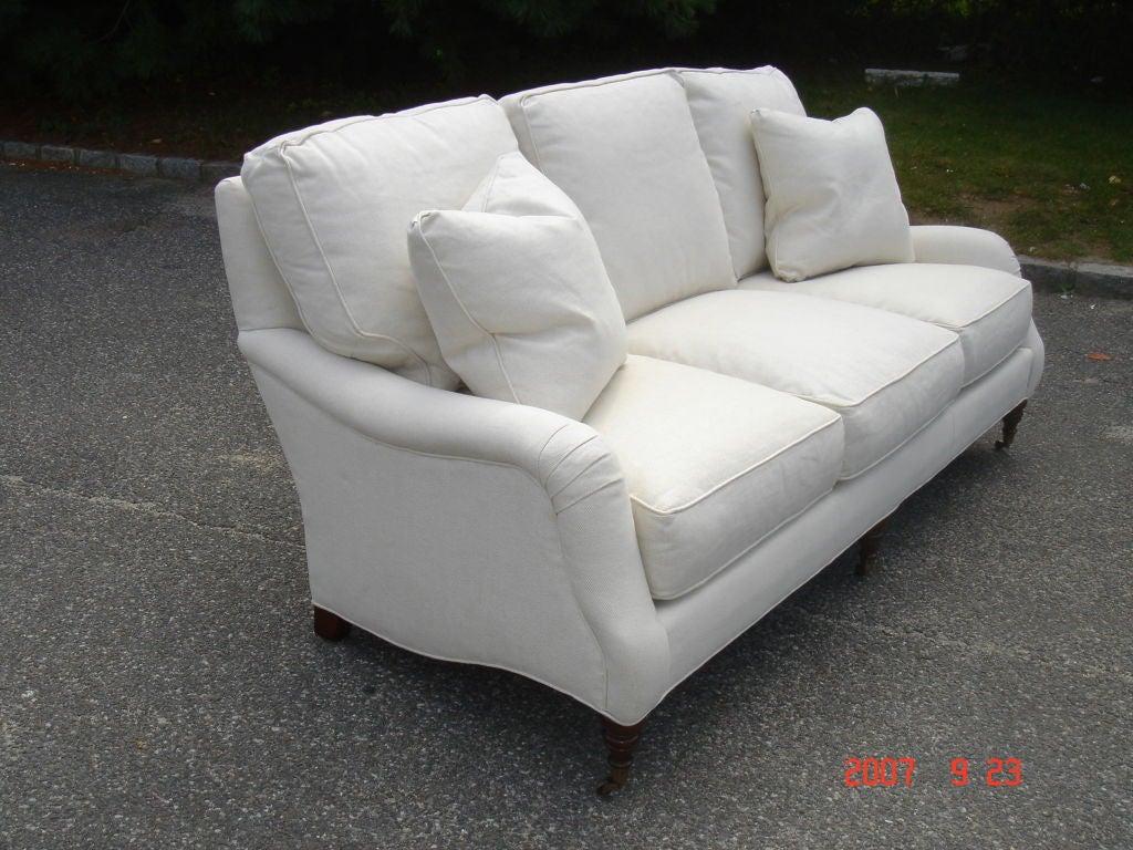 Upholstered english arm sofa image 2 for Sofa vs couch english