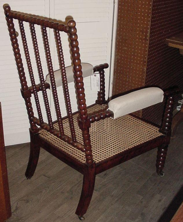 Antique Beech wood Bobbin Chair at 1stdibs