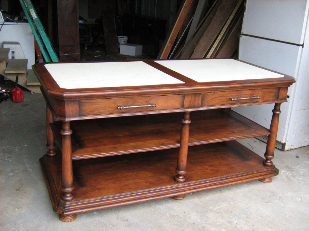 marble top kitchen island at 1stdibs kitchen islands amp carts on sale wood amp metal mobile
