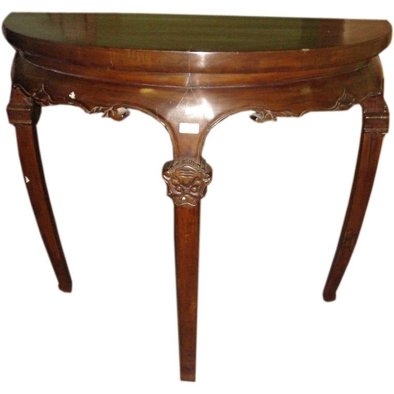 Chinese demi lune table at 1stdibs - Table cuisine demi lune ...