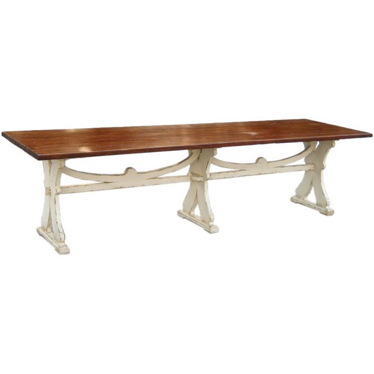 Old Wood Dining Table ~ Old wood dining table at stdibs
