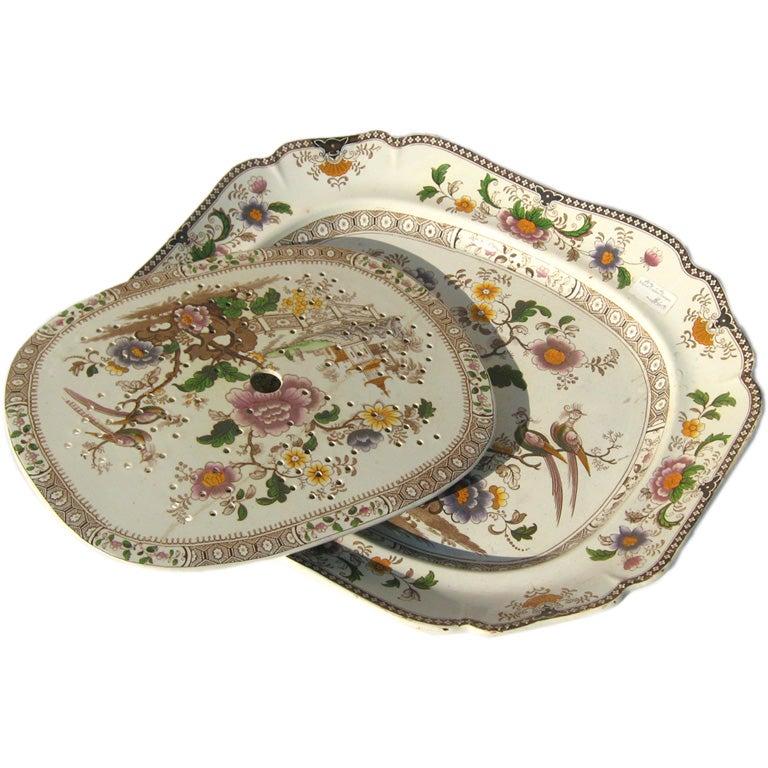 Decorative carving platter