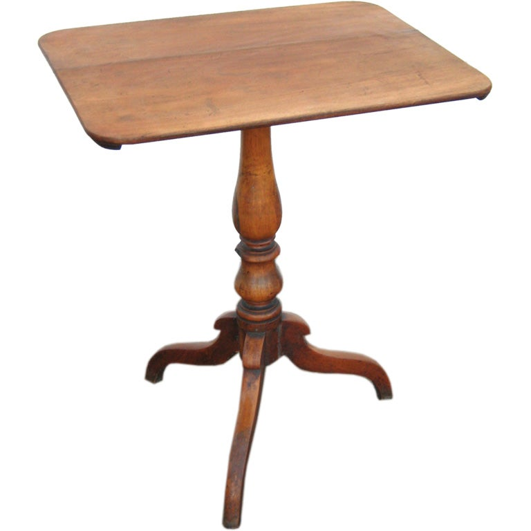 Antique Pedestal Side Table At 1stdibs
