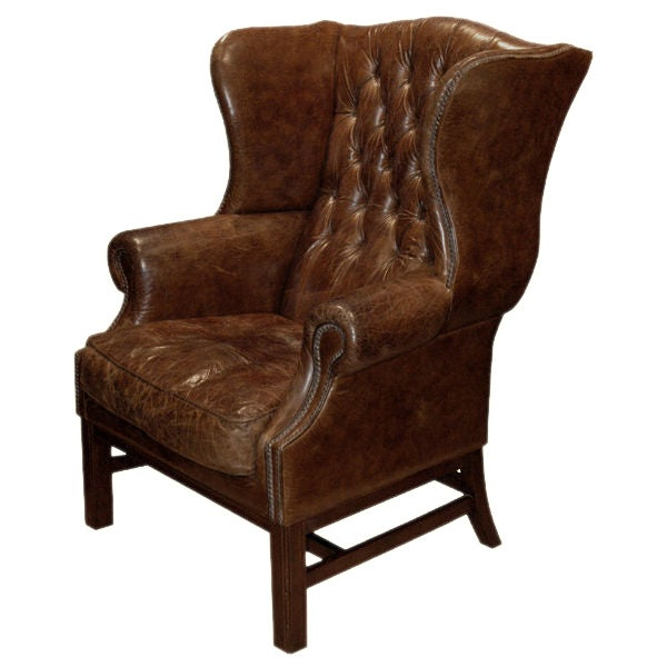 leather high back chairs for sale high back leather wing chair at 1stdibs 16639 | lu1701