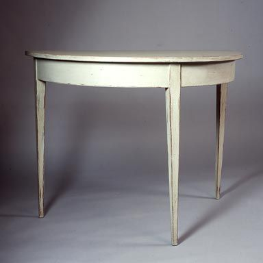 Gustavian style demi lune table at 1stdibs for Table demi lune extensible