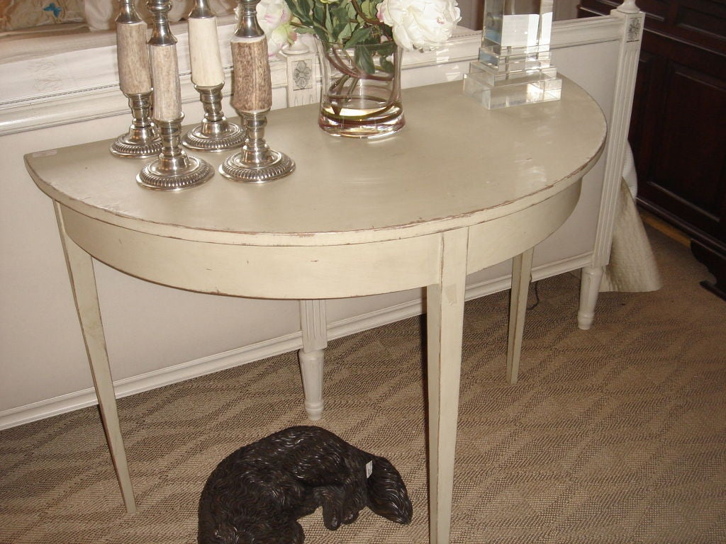 Gustavian style demi lune table for sale at 1stdibs - Table cuisine demi lune ...
