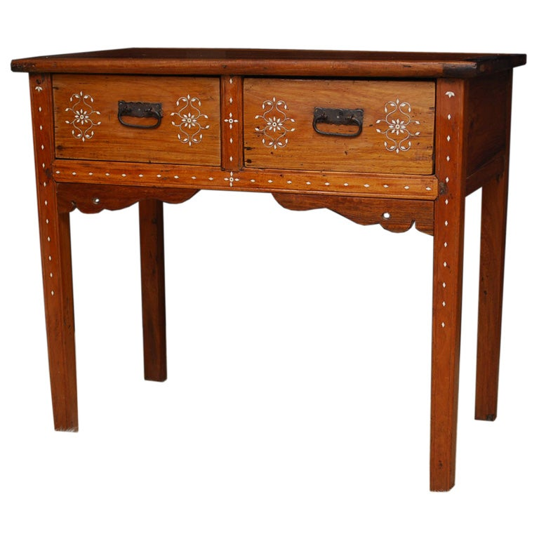 Exquisite Antique Console Table From The Philippines At