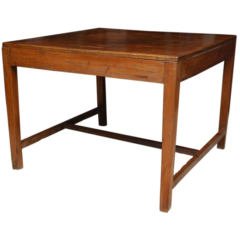 Teak Wood Library Table At 1stdibs